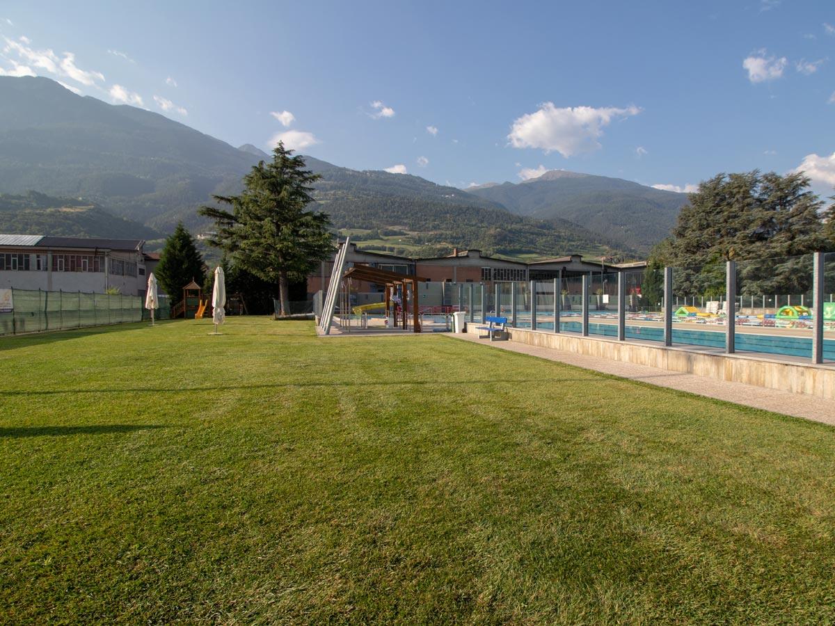 Piscina scoperta di Aosta
